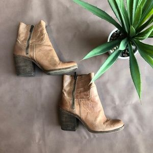 Lucky Brand Leather Mid Calf Boot Sz 9M